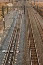 Railway line from above in South Africa Stock Photo