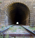 Railway line passing through the mallos de riglos huesca spain Royalty Free Stock Images