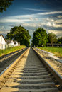 Railway new tracks on the outskirts of graz austria Royalty Free Stock Photos