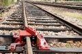 Railway Pad Lock Stock Photo