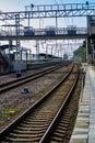 Railway pointwork, railway tracks, high-speed rail Royalty Free Stock Photo