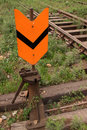 Railway rail switch Stock Images