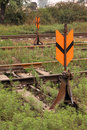 Railway rail switch Stock Photos
