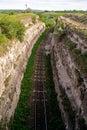 Railway recess moldovan railways nature stone Stock Images