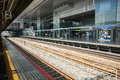 Railway road in kyoto station Royalty Free Stock Photo