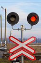 Railway semaphore Royalty Free Stock Photo
