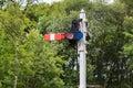 Railway Semaphore Signal Royalty Free Stock Photo