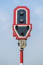 Railway sign posts Royalty Free Stock Photo