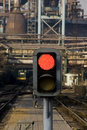 Railway signal Stock Photo