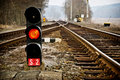 Railway signal light Royalty Free Stock Photography