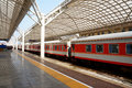 Railway station at china qingdao Stock Photo