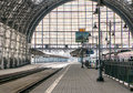 Railway station city in moscow Stock Images