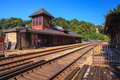 Railway station harpers ferry west virginia where amtrak a national passenger rail system provides service to twice a day there Royalty Free Stock Photography