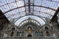 Railway station interior in antwerpen belgium Royalty Free Stock Photos