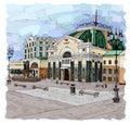 Railway station in Krasnoyarsk