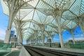 Railway station, Lisbon Royalty Free Stock Photo
