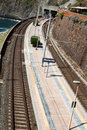 Railway station of Manarola Stock Image