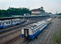 Railway Station in Medan, Indonesia. Stock Photography