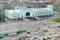 Railway station in novosibirsk city biggest city in western siberia russia november Stock Image