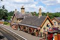 Railway station and platform, Arley. Royalty Free Stock Photo