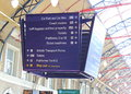 Railway Station Sign Royalty Free Stock Images