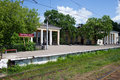 Railway station in the suburb of st petersburg gatchina Royalty Free Stock Photos