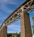 Railway steel truss bridge railroad velke mezirici czech republic Stock Photography