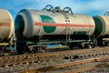 Railway tank for transportation of liquefied gas Royalty Free Stock Photo