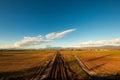 Railway to the mountains Royalty Free Stock Photo