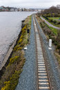 Railway track Derry Northern Ireland Royalty Free Stock Photo