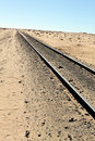Railway track in the desert a mauritania Stock Photography