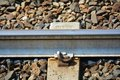 Railway track, detail Royalty Free Stock Photo