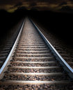 Railway track at night Royalty Free Stock Images