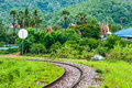 Railway track in the north of thailand Stock Photography