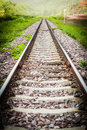 Railway track in the north of thailand Stock Images