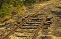 Railway track the on a or railroad also known as the permanent way is the structure consisting of the rails fasteners railroad Royalty Free Stock Photos