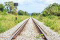 Railway track railroad in thailand Royalty Free Stock Photos