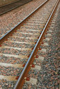 Railway track section of rail way line Royalty Free Stock Photography