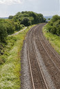 Railway track seen from a bridge Royalty Free Stock Photo