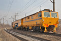 Railway track servece car Royalty Free Stock Photo