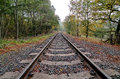Railway track severn valley railway trimpley worcester uk Stock Photography