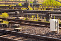 Railway Tracks and control devices Royalty Free Stock Images