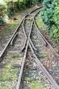 Railway Tracks crossing Royalty Free Stock Photo