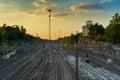 Railway Tracks in Helsinki Royalty Free Stock Photo