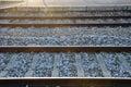 Railway tracks in Leiria Royalty Free Stock Photo