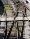 Railway tracks - points Stock Image