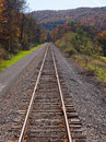 Railway tracks recede into distance Royalty Free Stock Photography