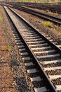 Railway Tracks and Switch Royalty Free Stock Image