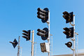 Railway Traffic Lights Royalty Free Stock Photography