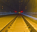 Railway tunnel in vienna lainzer connection to the main train station austria Stock Image